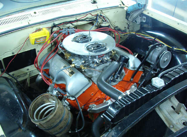 Chevy 409 Air Cleaner : Chevy stock engine air cleaner